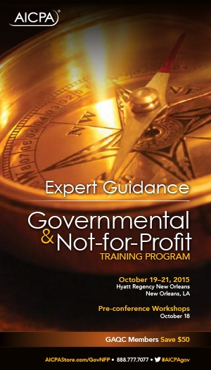 AICPA Governmental and Not-for-Profit Training Program 2015