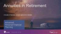 Annuities in Retirement