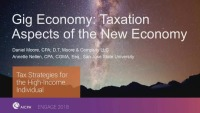 Gig Economy-Taxation Aspects of the New Economy