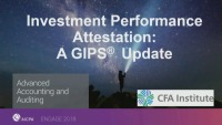 Investment Performance Attestation: A GIPS 2020 Update