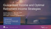 Guaranteed Income and Optimal Retirement Income Strategies