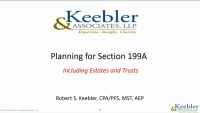 Planning for Section 199A Including Estates and Trusts
