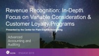 Revenue Recognition: In-Depth Focus on Variable Consideration & Customer Loyalty Programs