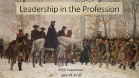Leadership in the Profession