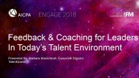 Feedback and Coaching for Leaders in Today's Talent Management Environment