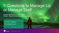 5 Questions to Manage up or Manage Staff