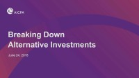 Breaking Down Alternative Investments