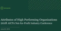 Attributes of High Performing Organizations