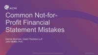 Common NFP Financial Statement Mistakes