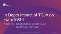 Tax Reform Impact on 990 and 990-T Reporting