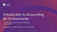 Introduction to Accounting for Endowments