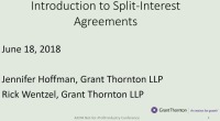 Introduction to Split Interest Agreements