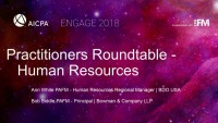 Practitioners Roundtables (1): Human Resources