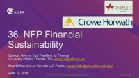Not-for-Profit Financial Sustainability