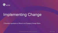 Implementing Change: 3 Essential Ingredients to Efficient and Engaging Change Efforts