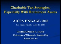Charitable Tax Strategies, Especially With Retirement Accounts