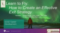 Learn to Fly: How to Create an Effective Exit Strategy