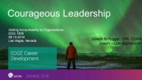Courageous Leadership: Adding Accountability to Organizations