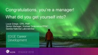 Congrats, You're a Manager! What Did You Get Yourself Into?