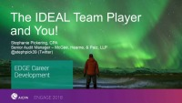 The Ideal Team Player and YOU!