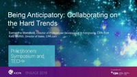 Being Anticipatory - Collaborating on the Hard Trends