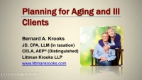 Planning for Aging & Ill Clients