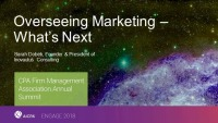 Overseeing Marketing - What's Next