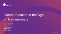 Communication in the Age of Transparency