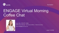 Virtual Morning Coffee Chat: Key Tax Issues Impacting the Profession