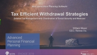 Solving the Retirement Crisis - Creating Tax-Efficient Withdrawal Strategies To Optimize Retirement Income - Presented by Retiree Income