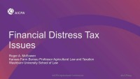 Financial Distress Tax Issues
