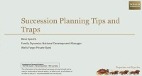 Succession Planning Tips and Traps