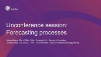 Unconference Session: Forecasting Processes