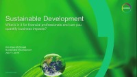 Sustainability - Can You Quantify Business Impact?