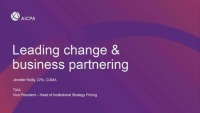 Leading Change & Business Partnership