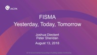 Federal Audit Executive Council (FAEC) IT Committee's FISMA Update