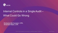 Internal Controls in a Single Audit- What Could Go Wrong