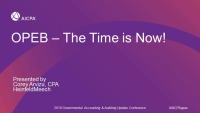 OPEB - The Time is Now! (Repeated in GAE1815)