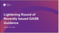 Lightening Round of Recently Issued GASB Guidance (Repeated in GAE1821)