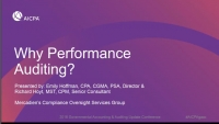 Why Performance Audits?
