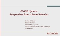PCAOB Update: Perspectives from a Board Member