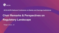 Chair Remarks & Perspectives on Regulatory Landscape