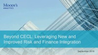 Beyond CECL: Leveraging New and Improved Risk and Finance Integration