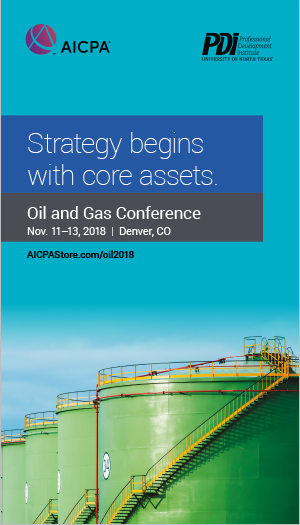 AICPA/PDI Oil and Gas Conference 2018