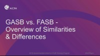 GASB vs. FASB - Overview of Similarities & Differences