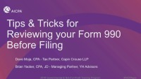Tips & Tricks for Reviewing your Form 990 Before Filing