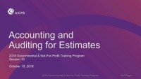 Accounting and Auditing for Estimates
