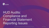 HUD Audits: Compliance and Financial Statement Reporting Issues