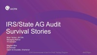 IRS/State AG Audit Survival Stories