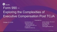 Form 990 - Exploring the Complexities of Executive Compensation Post TCJA
